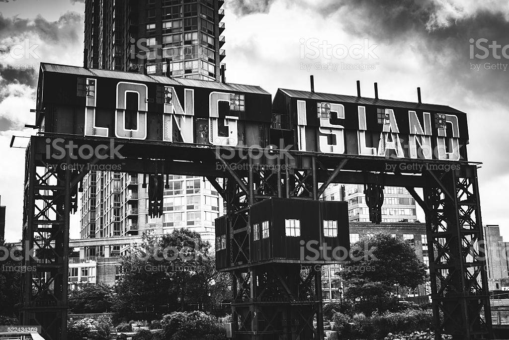 Long island insignia on brooklyn stock photo