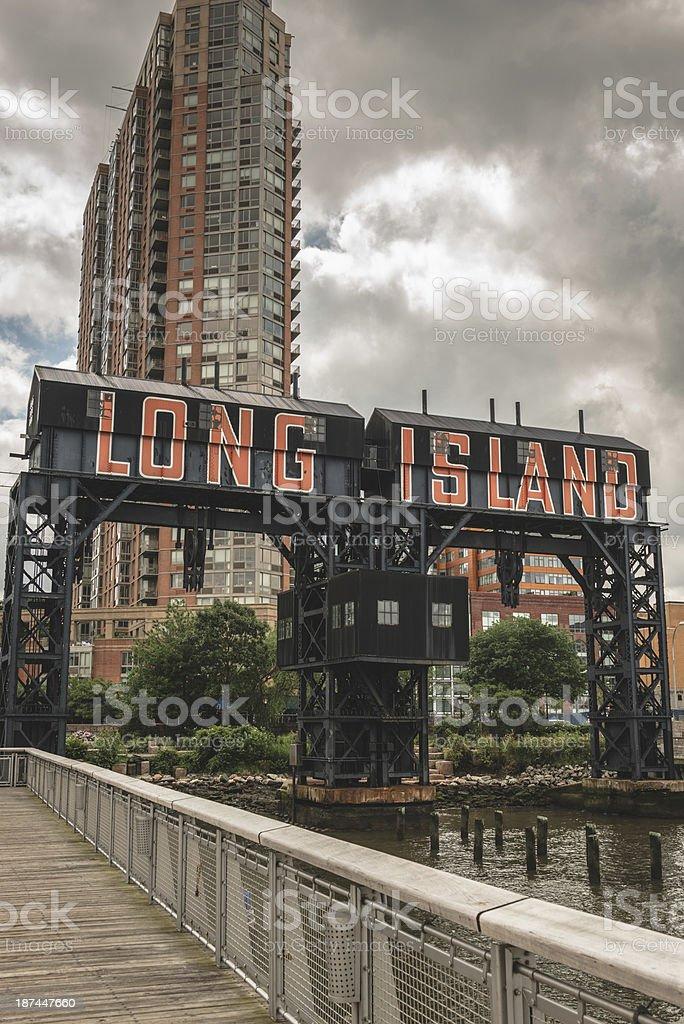 Long island insignia stock photo