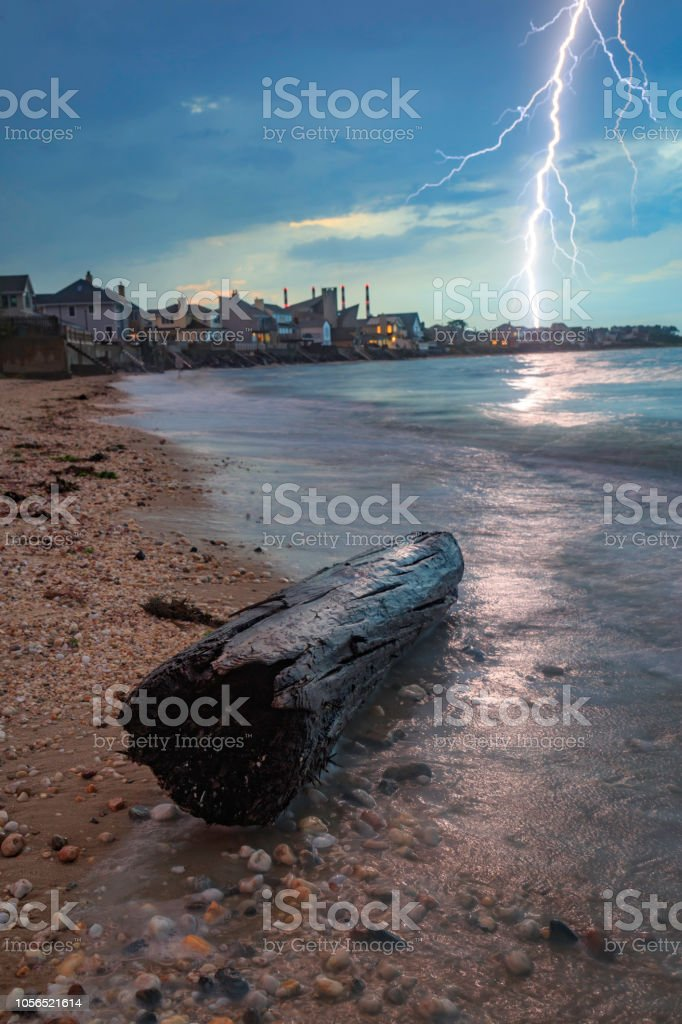 Long Island North Shore Lightning Storm Stock Photo & More