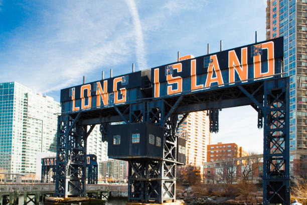 Long Island Sign Queens NYC stock photo