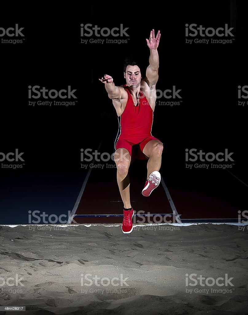 long jump athlete stock photo