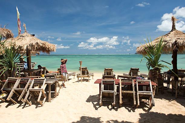 Long Kuta Sand Beach stock photo