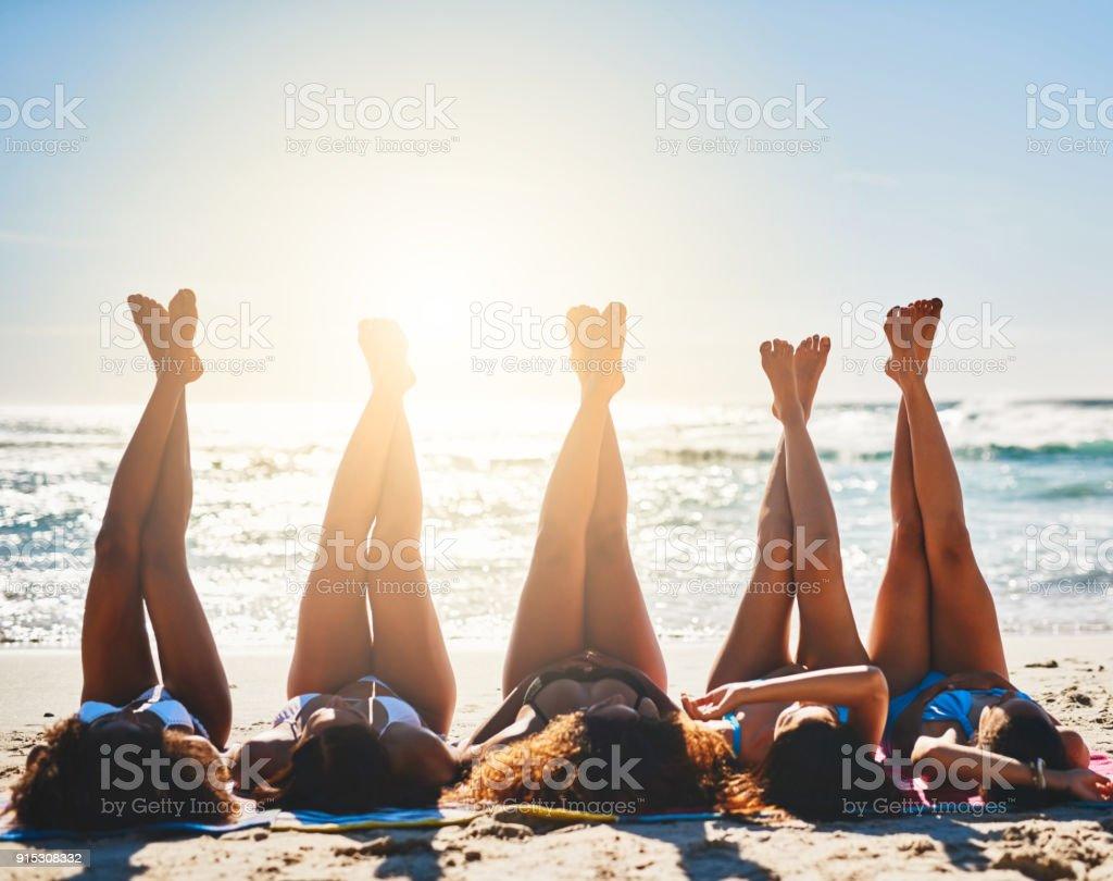 Long, lazy, beachy days stock photo
