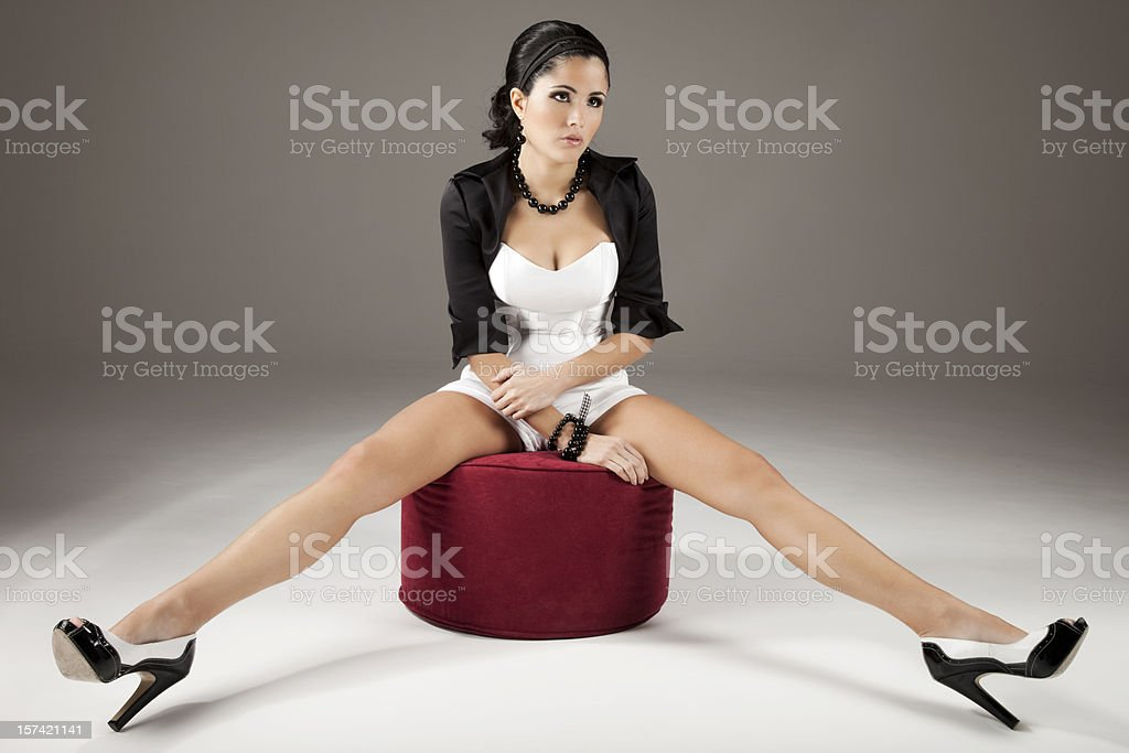 Long Legged Beauty stock photo