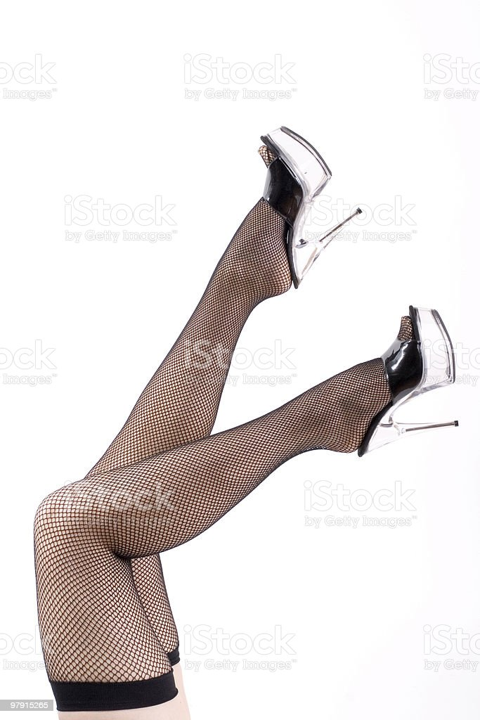 Long legs and high heels royalty-free stock photo