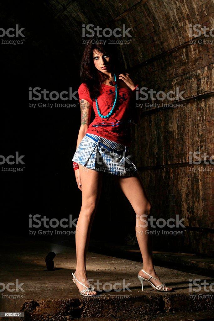 Long legs, high heels. royalty-free stock photo