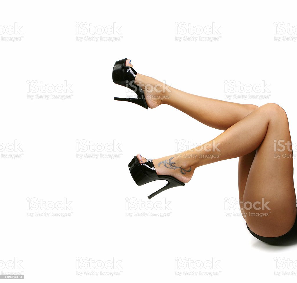 Long Legs With Black Pumps royalty-free stock photo