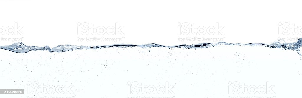 Long line of water stock photo