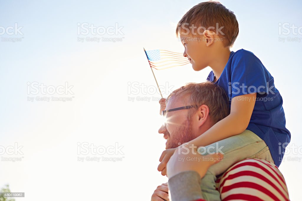 Long live America! stock photo