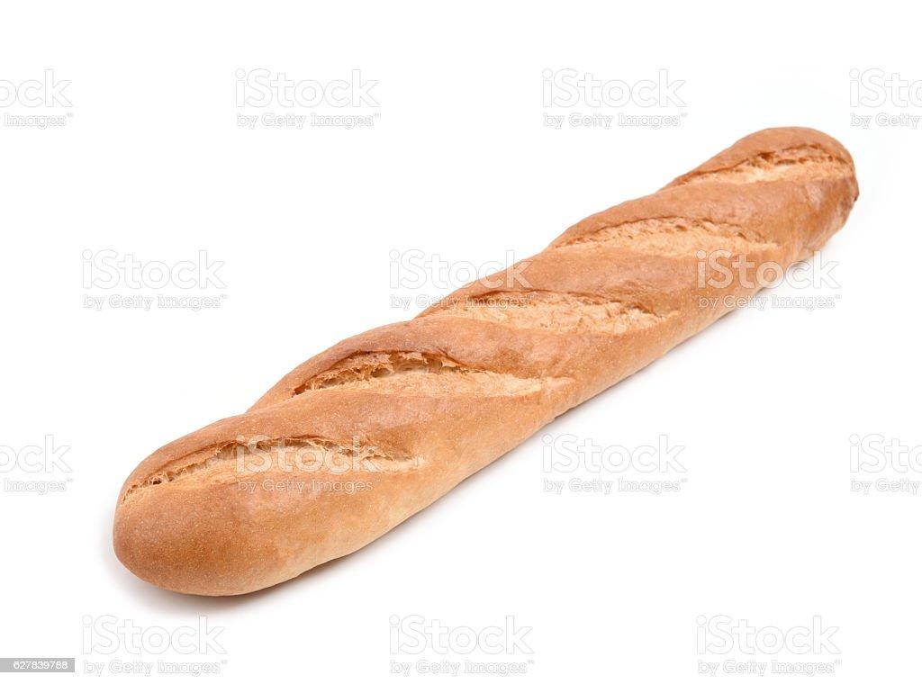 long loaf isolated on white background stock photo