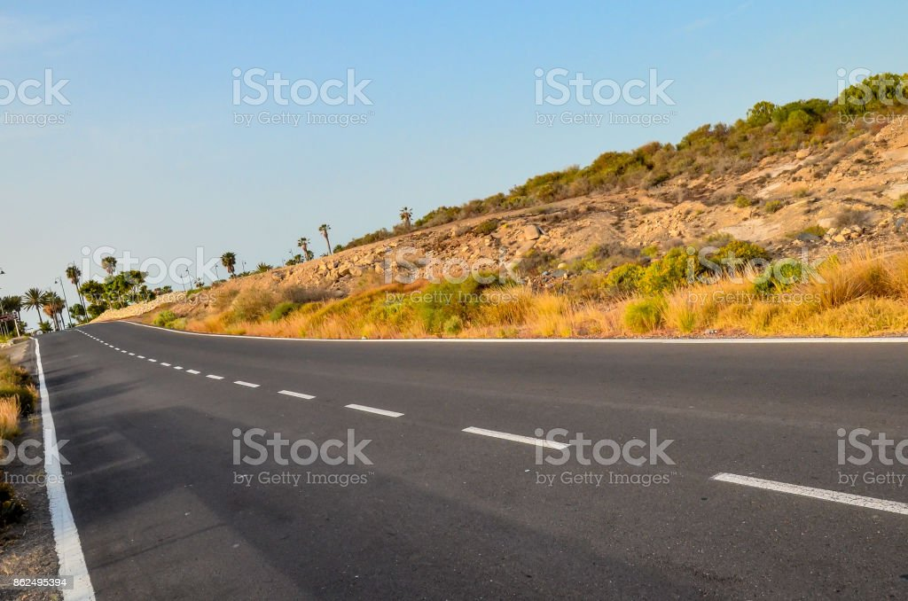 Long Lonely Road stock photo