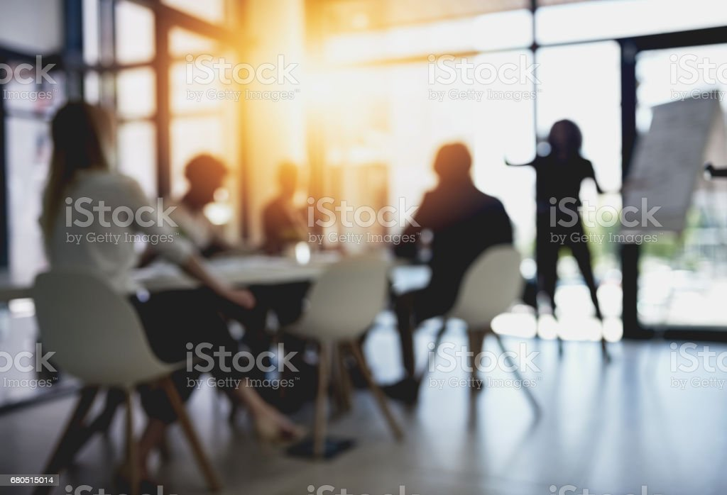 Long meetings in the boardroom stock photo