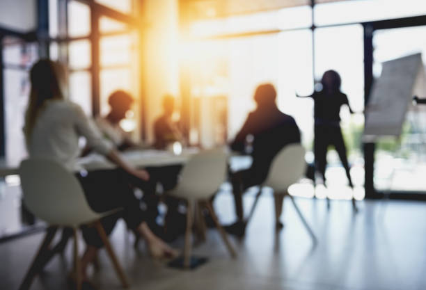 long meetings in the boardroom - soft focus stock photos and pictures