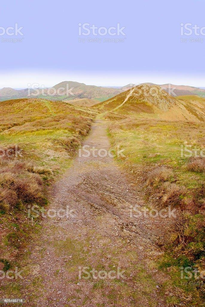 long mynd hills shropshire england uk stock photo