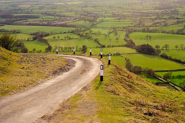 long mynd hills shropshire england uk - ムーア様式 ストックフォトと画像