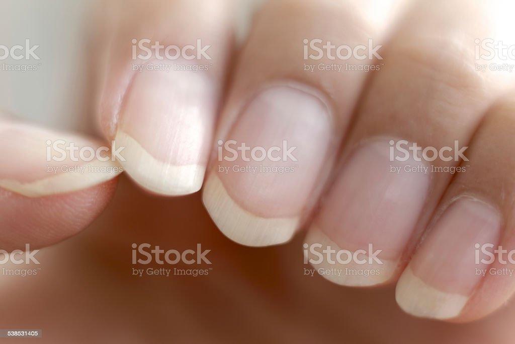 Long Nail stock photo
