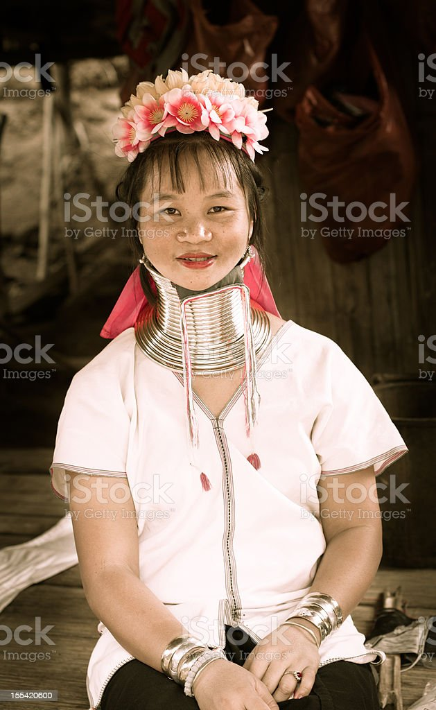 Long neck tribe stock photo
