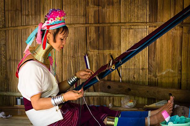 long neck tribe - pengpeng stock-fotos und bilder