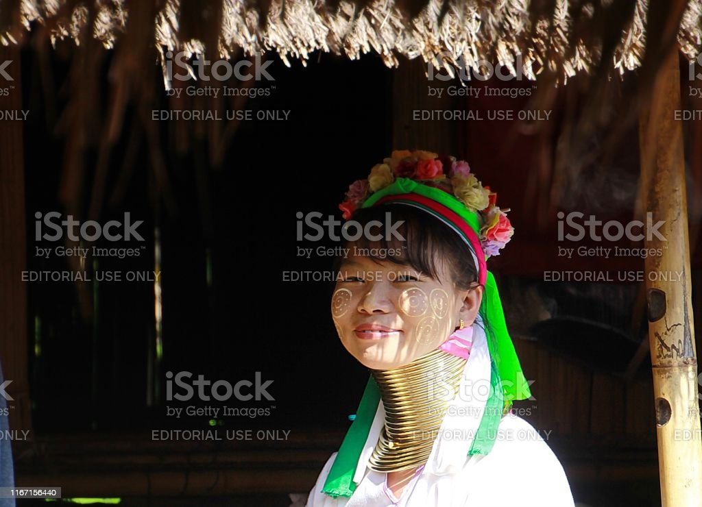 Longneck Karen Village, Thailand- December 17. 2017: Long neck woman...