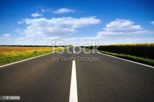 621693226istockphoto Long new empty road 178758058