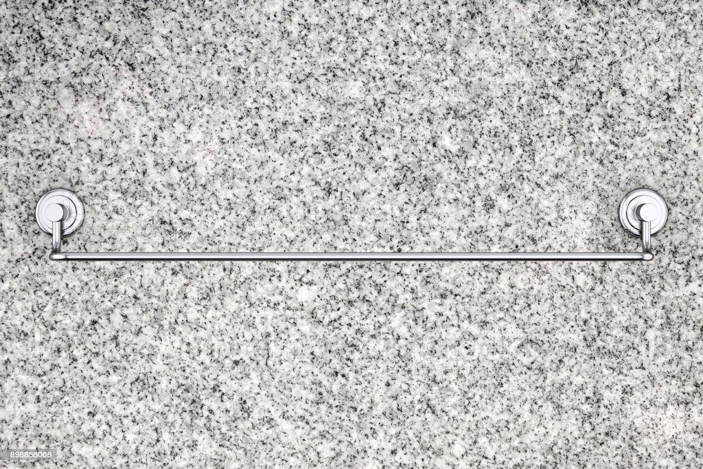 Long New Stainless Steel Towel Holder Rack 3d Rendering