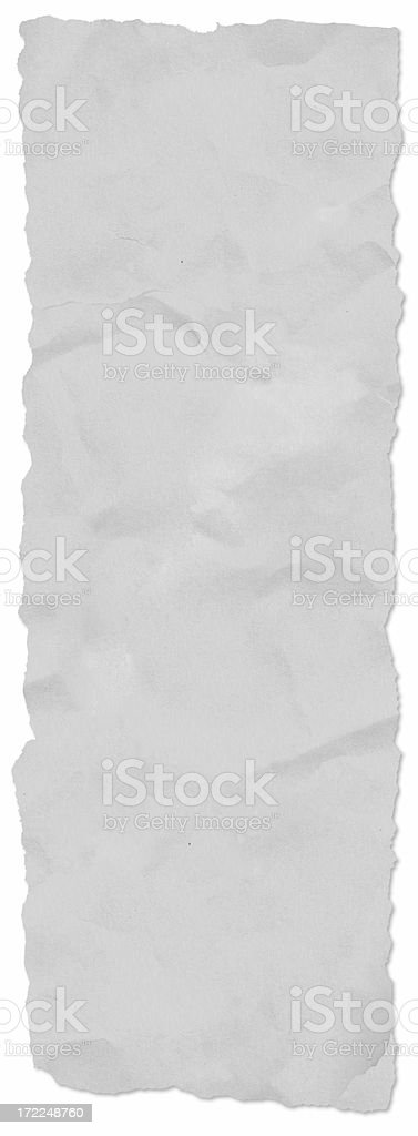 Long newspaper tear, w/ drop shadow royalty-free stock photo