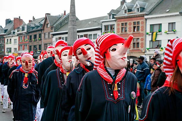 Lange Nase Parade, Karneval von Malmedy, Wallonisch-Region in Belgien. – Foto