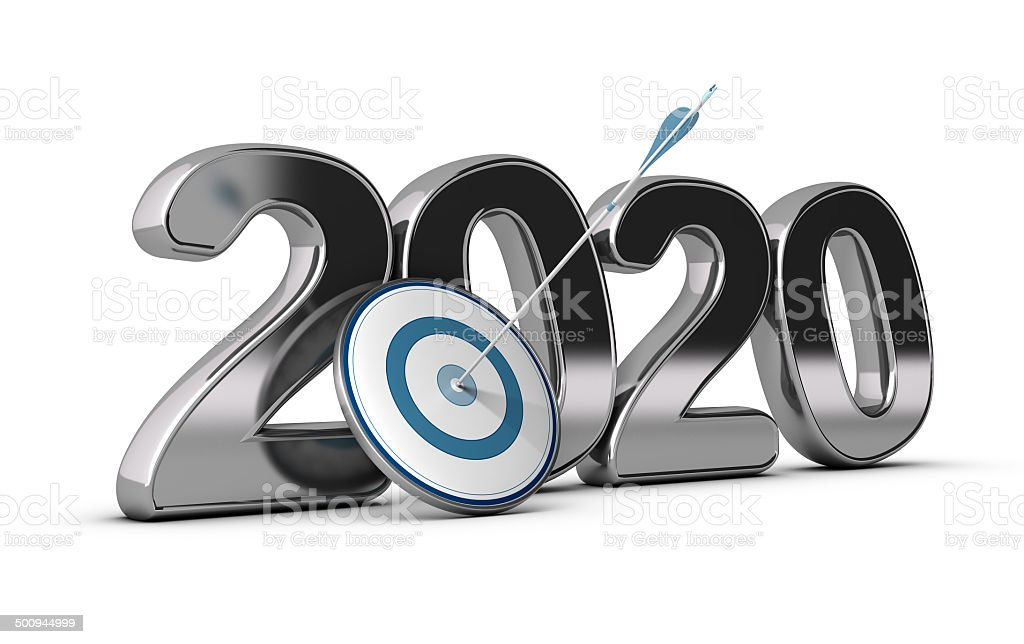 2020 Long or Mid Term Goal stock photo