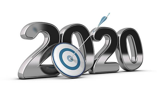 2020 largo plazo o Media objetivo - foto de stock