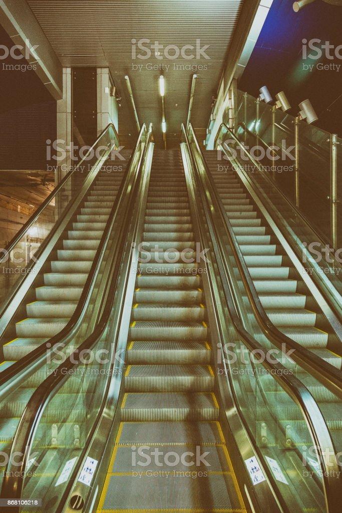 Long Passenger Escalator Stock Photo Download Image Now Istock
