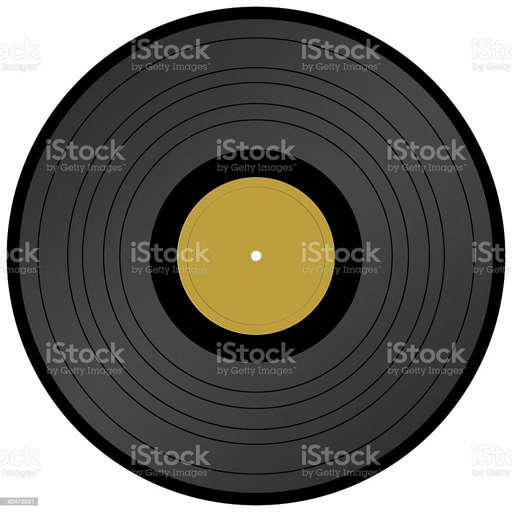 Long Play vinyl record royalty-free stock photo