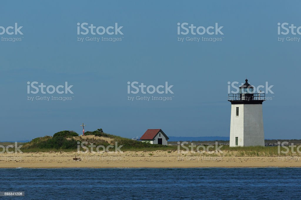 Long Point Light Station in Provincetown stock photo