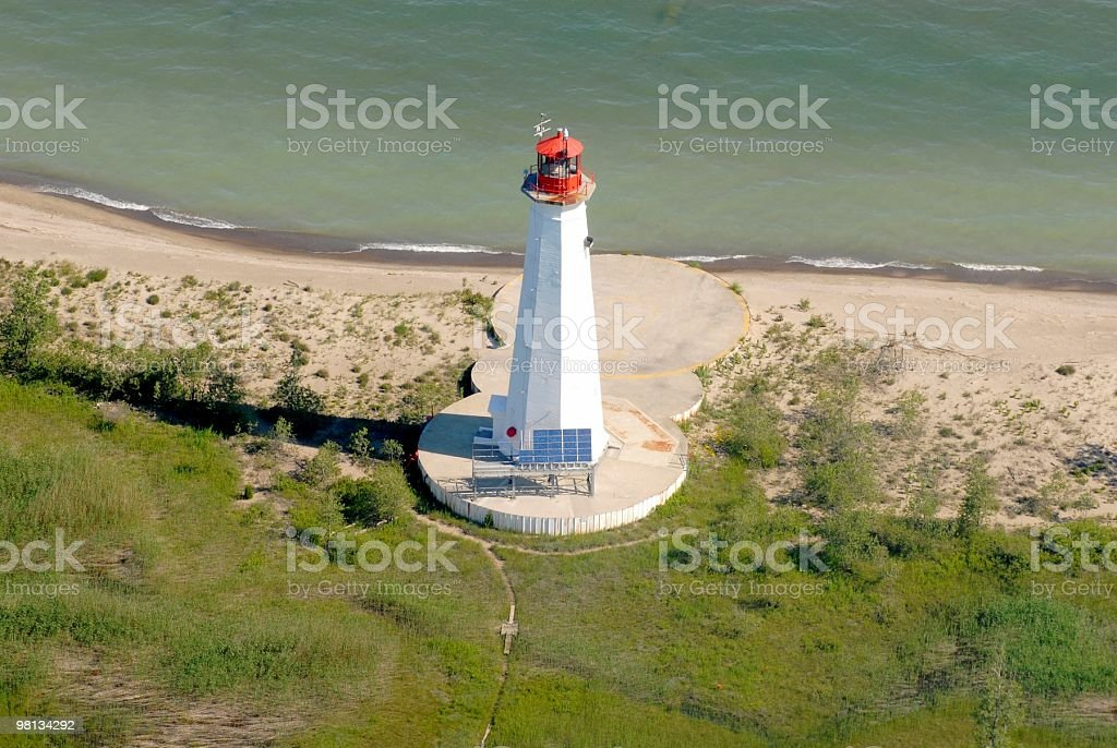 Long Point lighthouse royalty-free stock photo