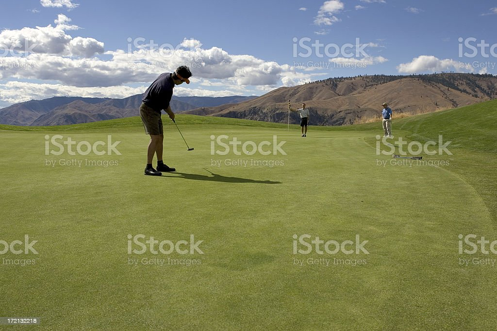 Long Putt for Birdie royalty-free stock photo