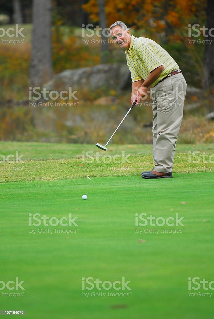 Long Putt royalty-free stock photo