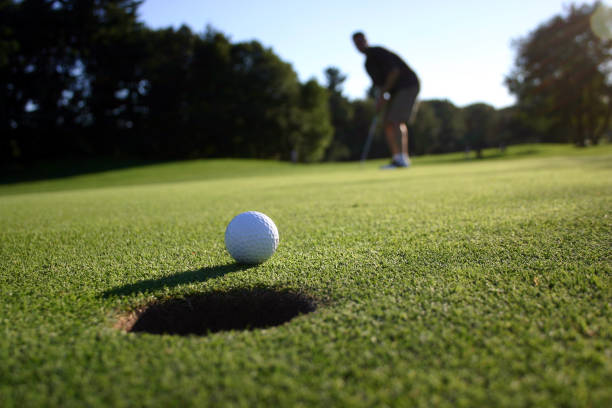 long putt - close to stock photos and pictures