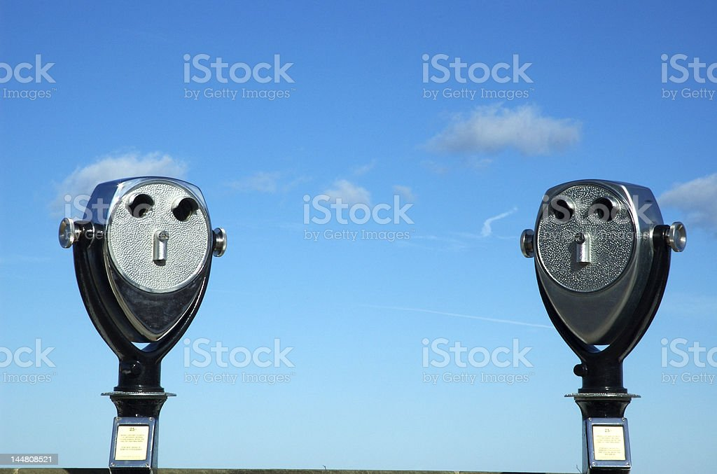 long range binocular stock photo