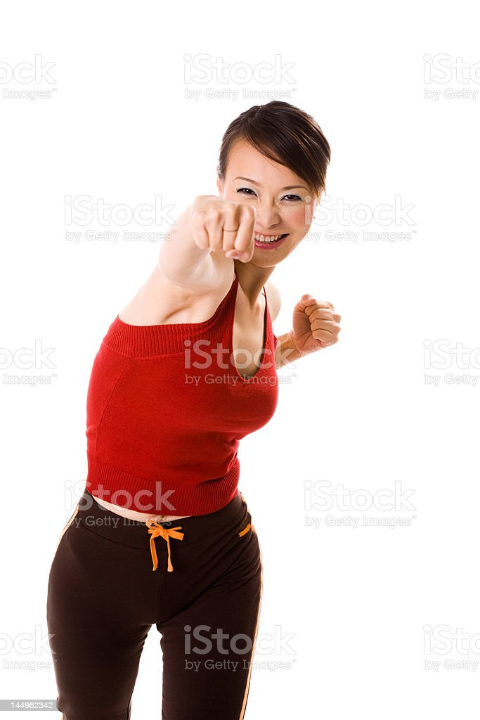 long reach punch royalty-free stock photo