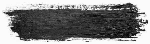 Long rectangular hand drawn isolated paintbrush stripe with dirty black color ink. Splatter Paint Texture. Distress rough background. Scratch, Grain, Noise rectangle stamp. Copy space for your text. Long rectangular hand drawn isolated paintbrush stripe with dirty black color ink. Splatter Paint Texture. Distress rough background. Scratch, Grain, Noise rectangle stamp. Copy space for your text. brush stroke stock pictures, royalty-free photos & images