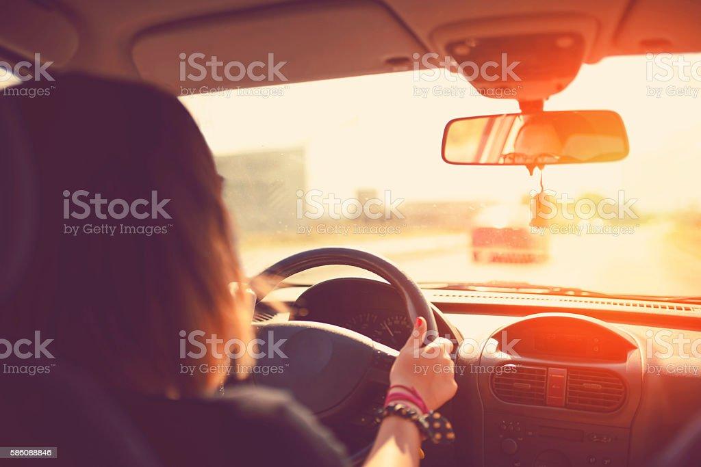 Long Road Ahead stock photo