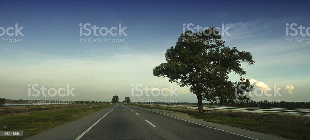 Long Road Home stock photo