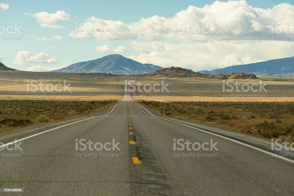 Long road in america stock photo