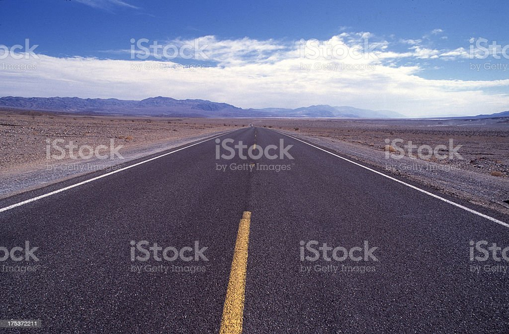 Long Road in Nevada royalty-free stock photo
