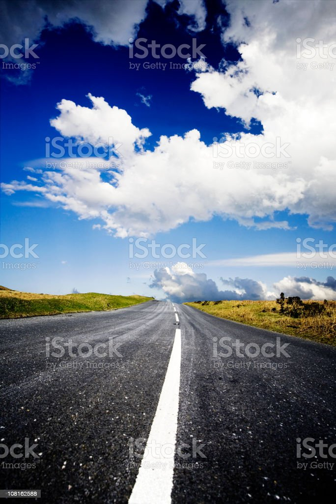 Long road royalty-free stock photo