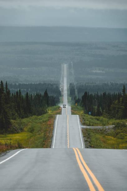 森を通る長い道のり - 長い ストックフォトと画像