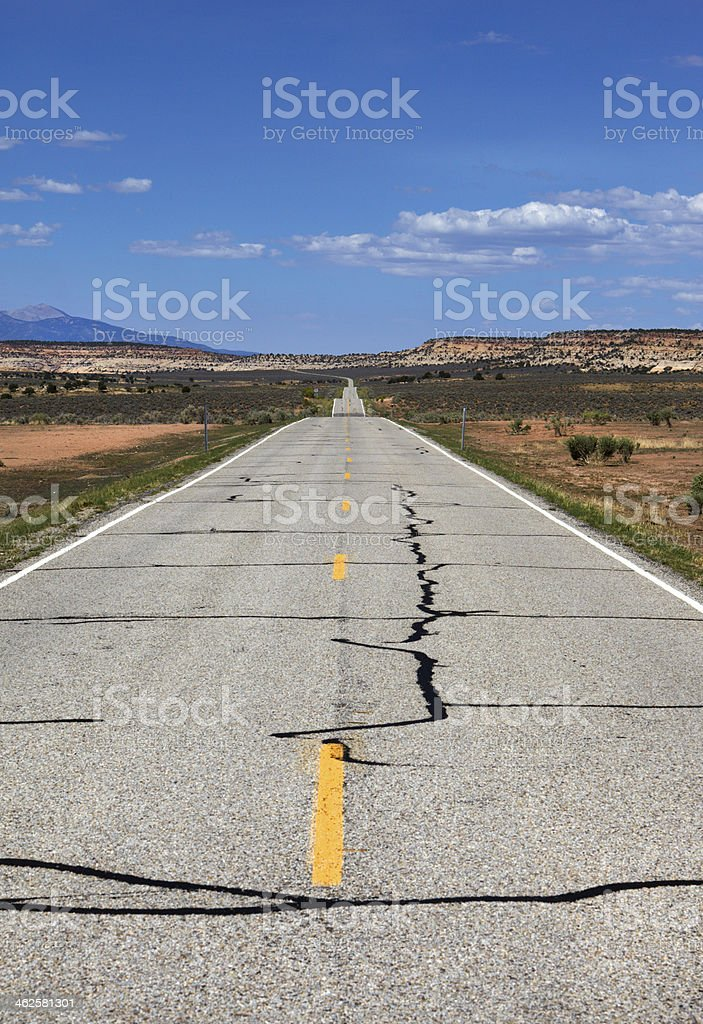 Long road to nowhere royalty-free stock photo