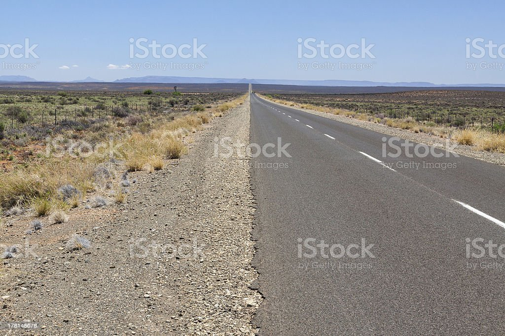 Long road to the horizon stock photo