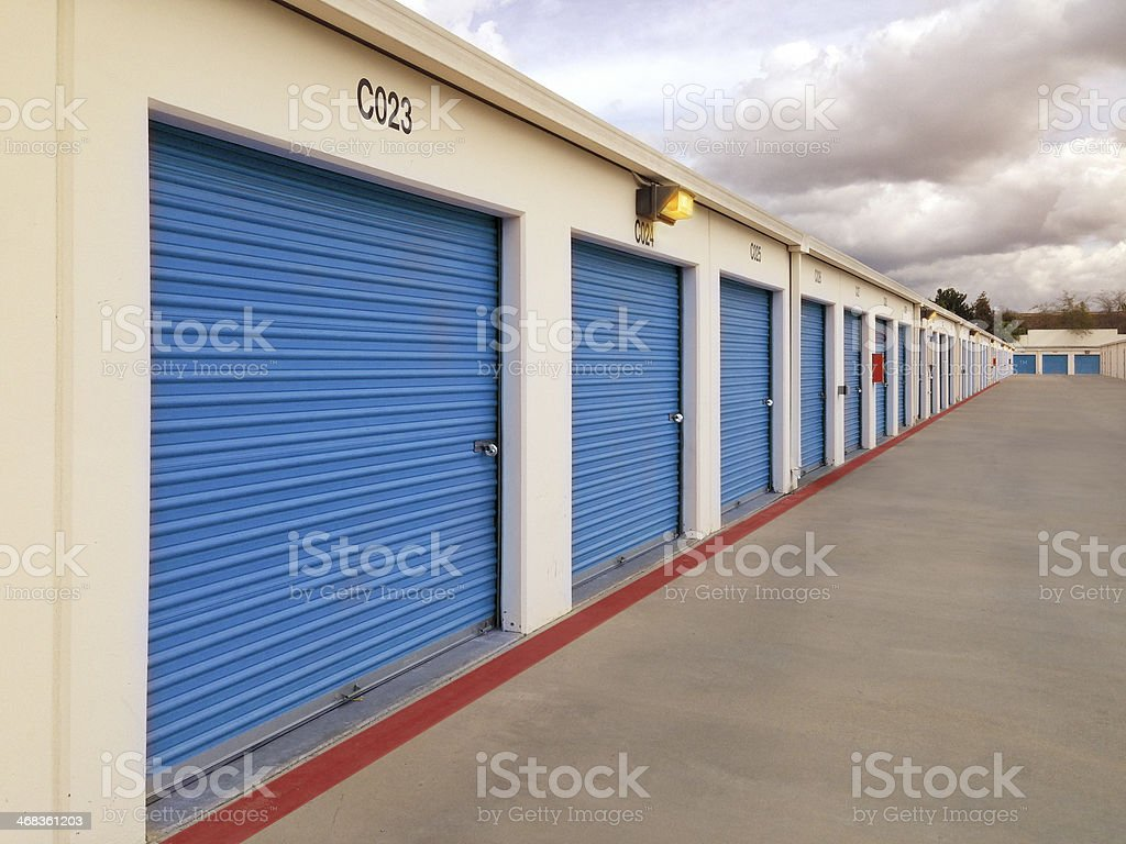 Long Row of storage units royalty-free stock photo