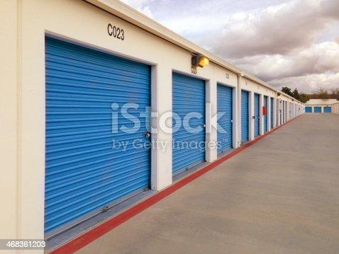 Long Row of storage units