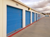 Long Row of storage units